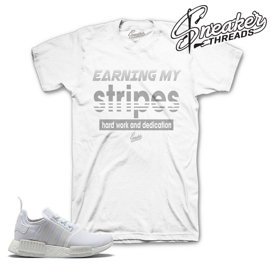 f73f1e819ad22 Footwear white NMD R1 tee shirts match adidas sneakers.