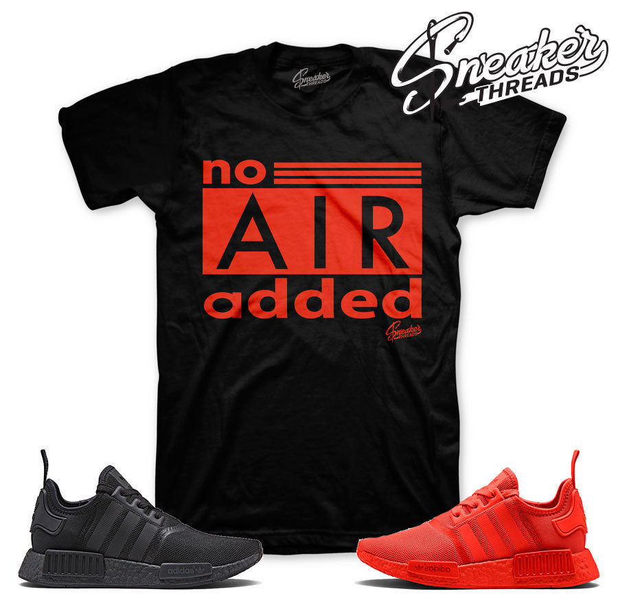 NMD R1 shirts match solar red | Sneaker Match tees.