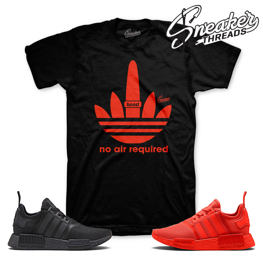 NMD R1 tee match solar red black | Sneaker Match tees.