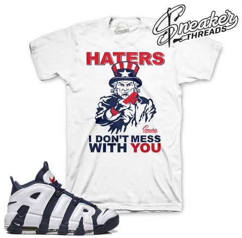 Uptempo olympic shirts match nike scottie pippen sneaker tees.