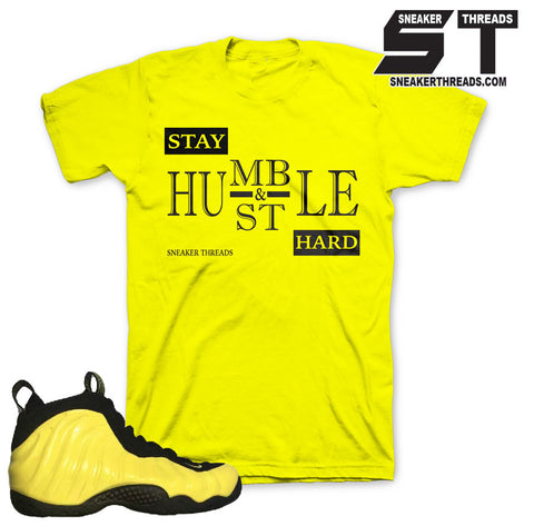 Foamposite wu tang sneaker match tees shirts foam outfits.