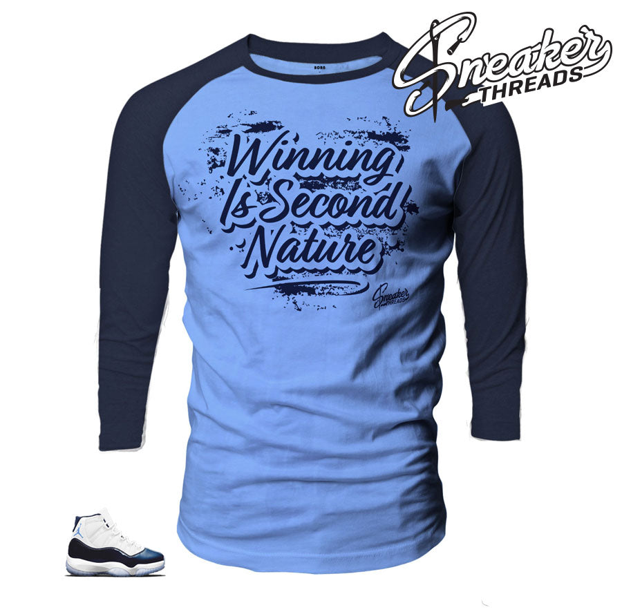 Raglan tees match jordan 11 win like 82 midnight navy.