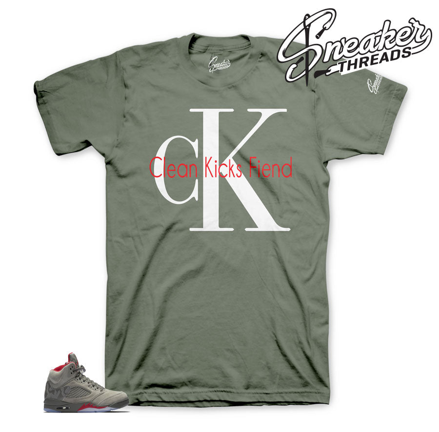 Jordan 5 reflective camo shirts match retro 5.