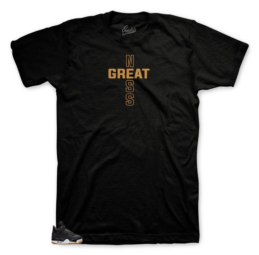 tee collection designed to match Jordan 4 retro black gum sneakers color way