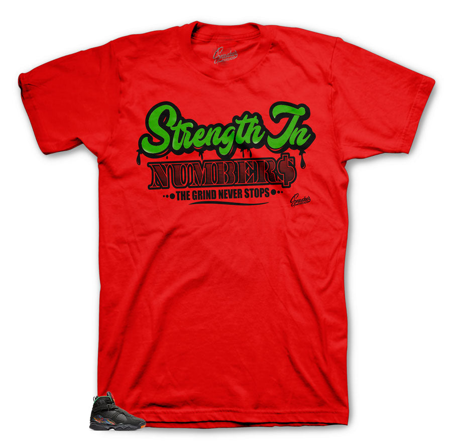Jordan 8 Air Raid Strength In Numbers Shirt
