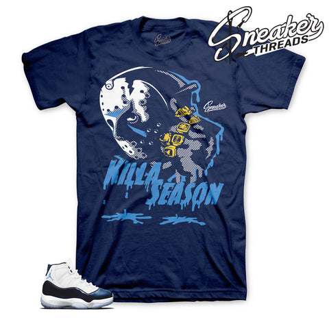 Midnight navy 11 shirts match | Official matching retro 11 tees.