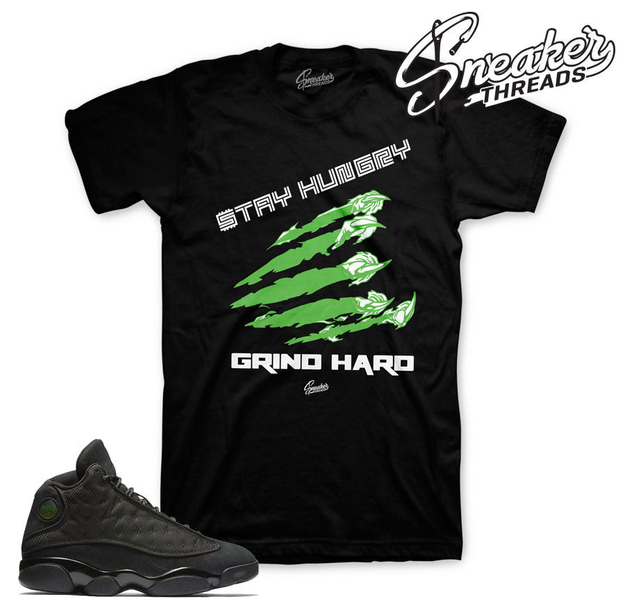 Sneaker match tees Jordan 13 black cat. Sneaker match tees shirts.