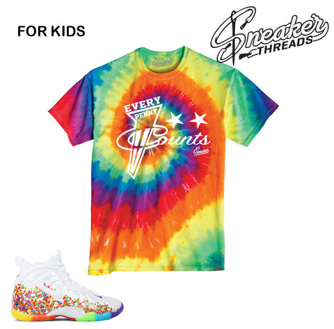 Foamposite fruity pebbles tees match foam kids shirts.