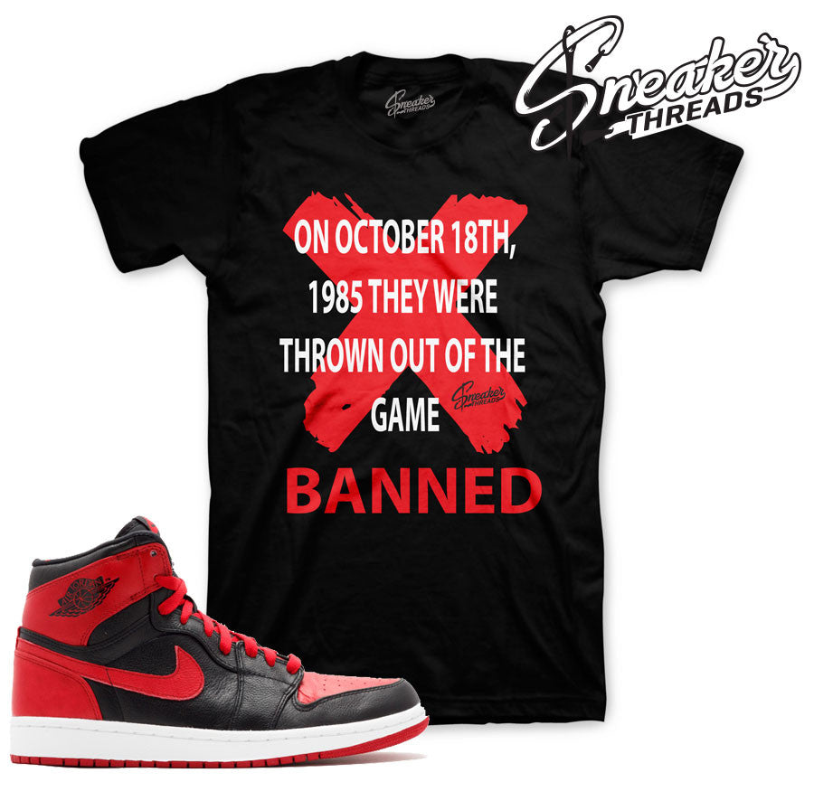 Jordan 1 banned tees match retro 1 banned sneaker shirts.