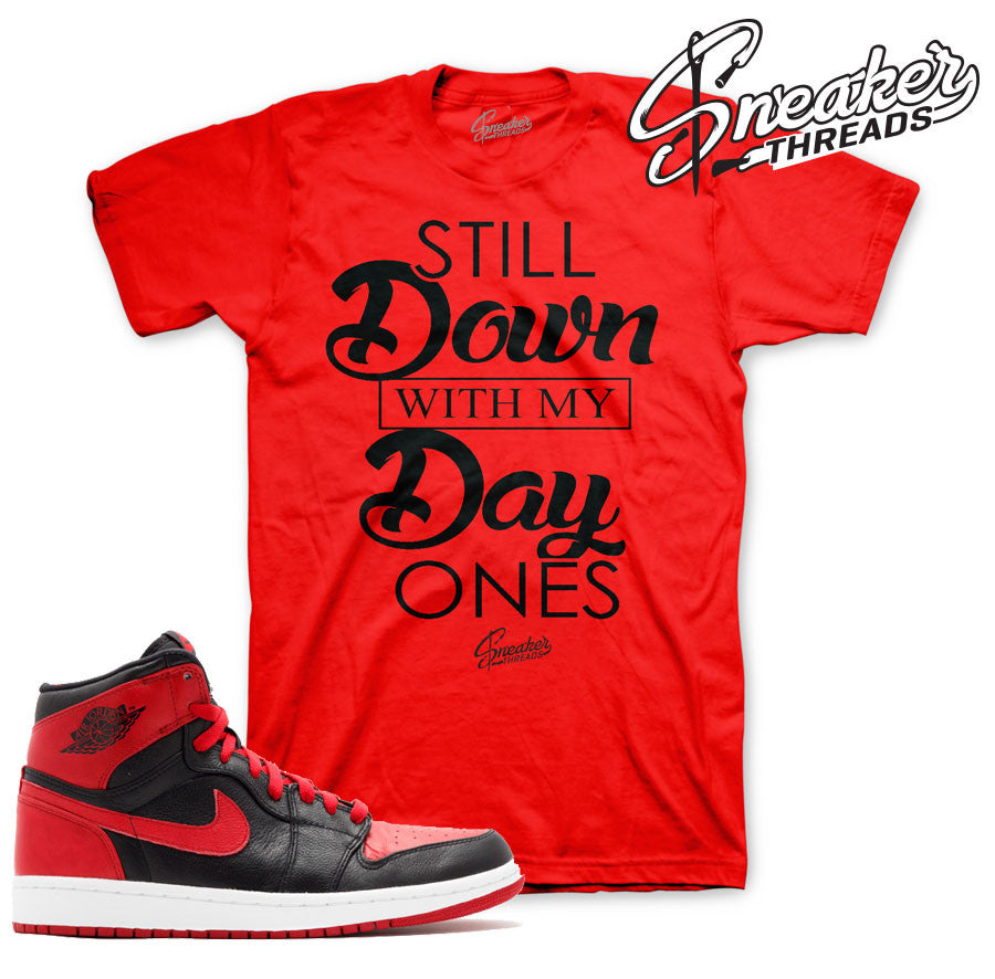 Jordan 1 banned shirts match retro 1 banned sneaker tees.