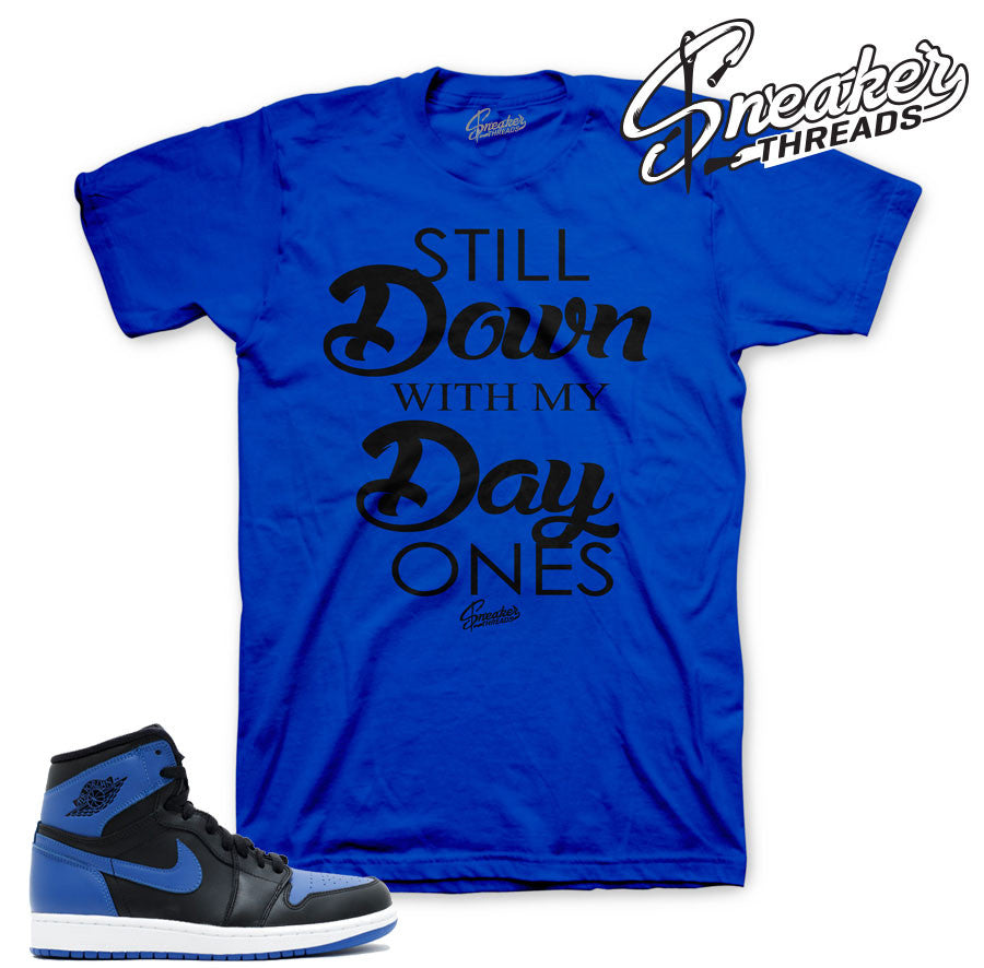 Jordan 1 Royal OG tee match retro 1's shoes.