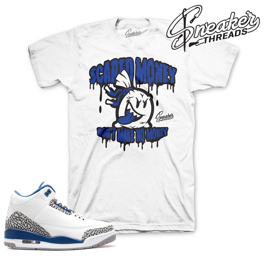Shirts match Jordan 3 true blue retro 3 true blue sneaker tees.