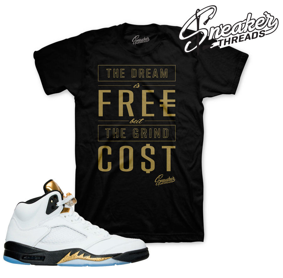 Jordan 5 Gold Tongue Cost Shirt