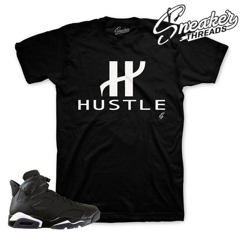 Jordan 6 black cat t-shirt match retro 6 black sneakers.