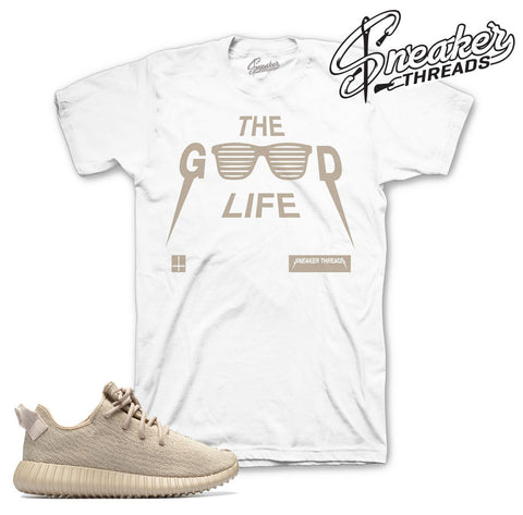 Yeezy boost 350 oxford tan shirts match adidas boost tan tee.