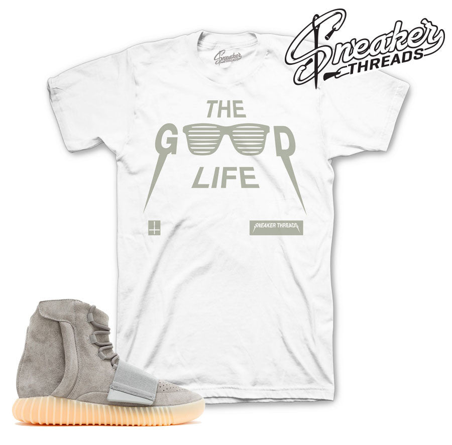 Yeezy boost 750 grey gum shirts match glow in dark boost tee.