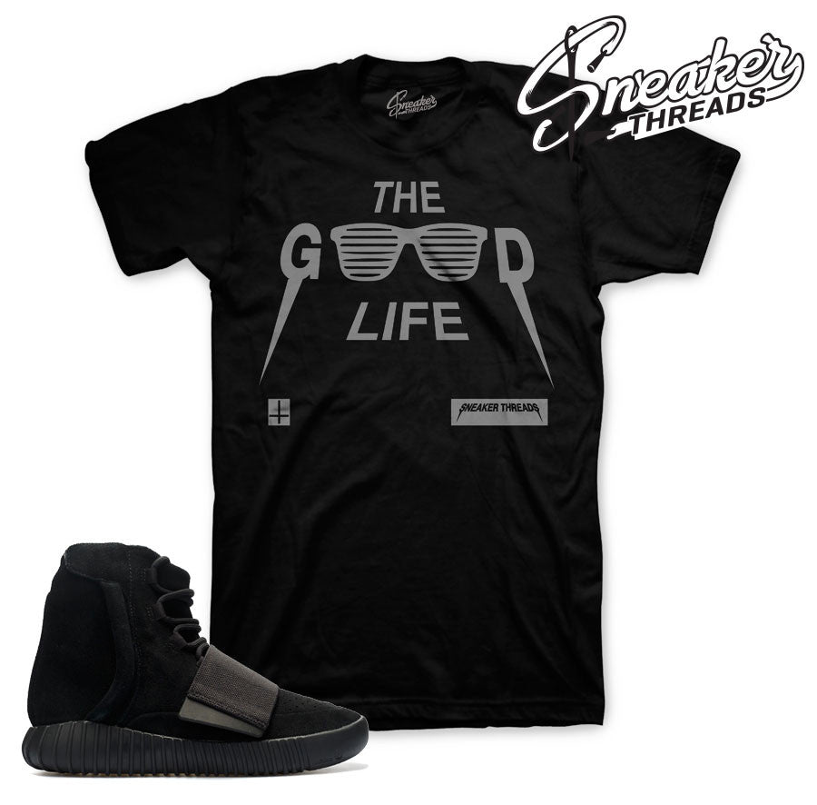 best sneakers dcf65 02563 Yeezy Boost 750 Pirate Black Good Life Shirt