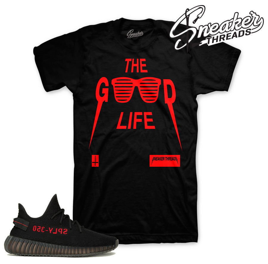 Tee match yeezy boost core red black boost spy tees shirts.