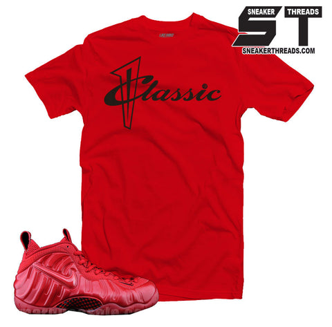 Tees match foamposite gym red october sneaker match tees foam shirts.