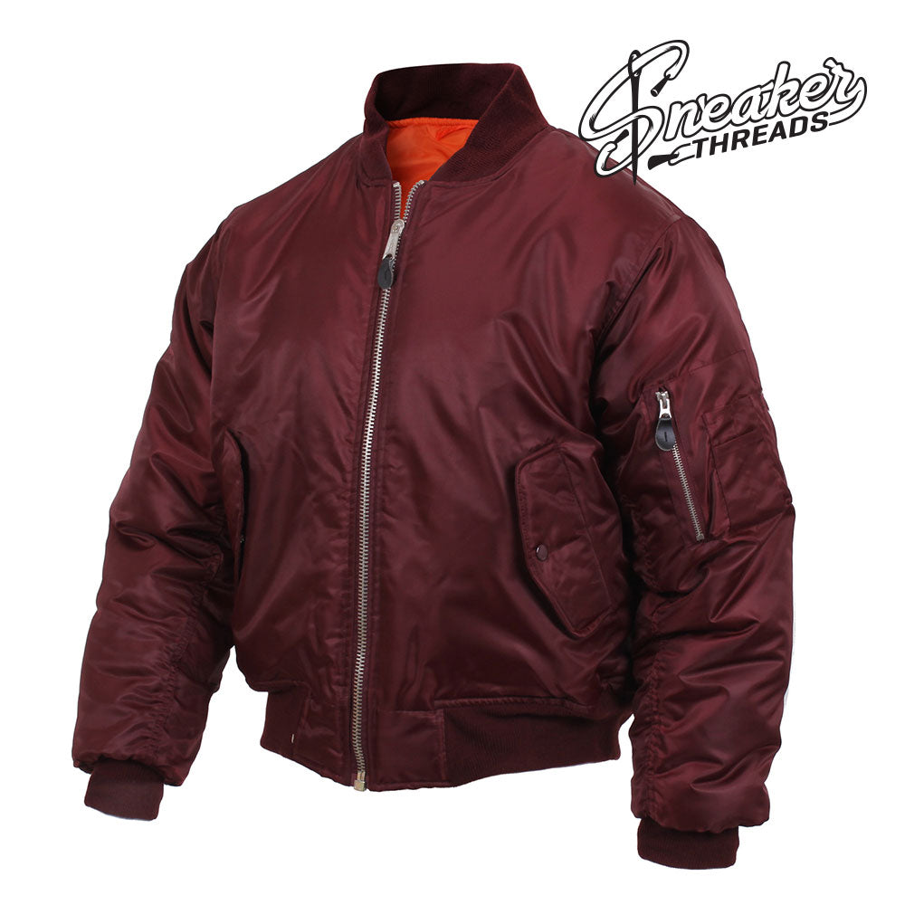 MA-1 Bomber Flight Jacket Match Shoes | Maroon Jacket