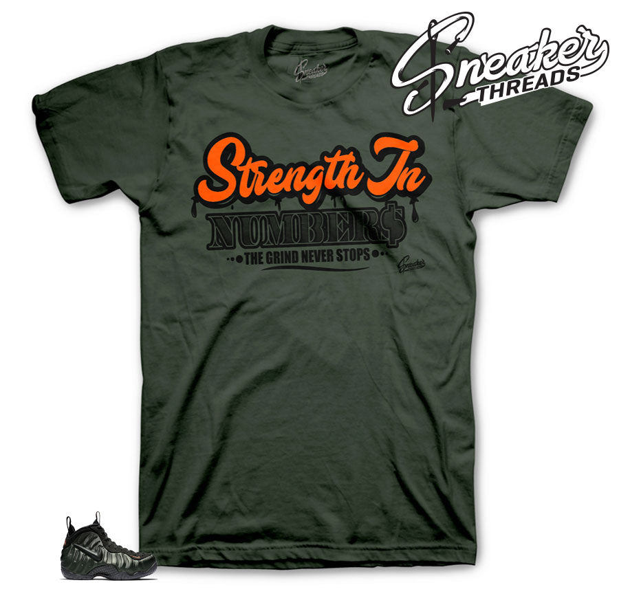 Tees match sequoia foamposite shoes | Sneaker matching tees for foams.