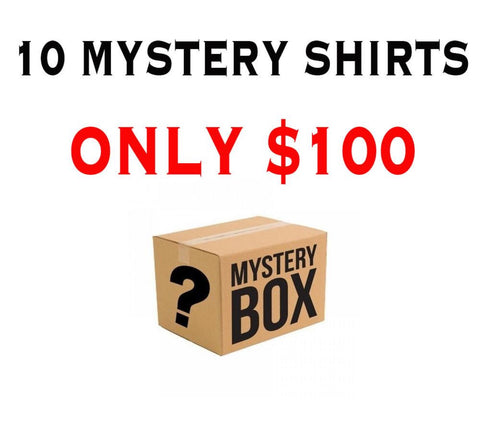 MYSTERY PACK 10 SHIRTS - $100