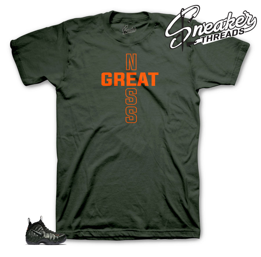 Foamposite sequoia official matching sneaker tees and shirts.