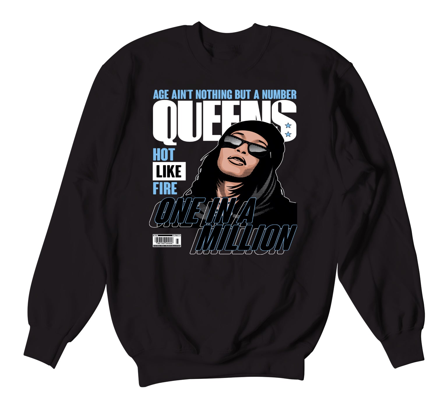 Jordan 1 University Blue Queens Sweater