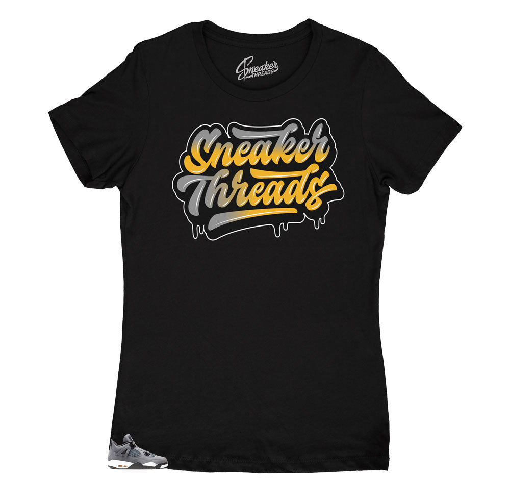 womens tees designed perfectly to match the Jordan 4 cool grey sneakers