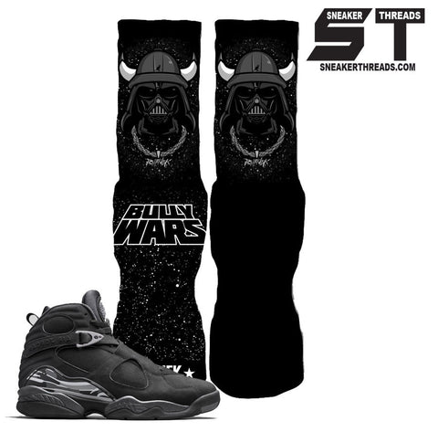 Socks to match Jordan 8 chrome black. Retro 8 black chrome elite socks.