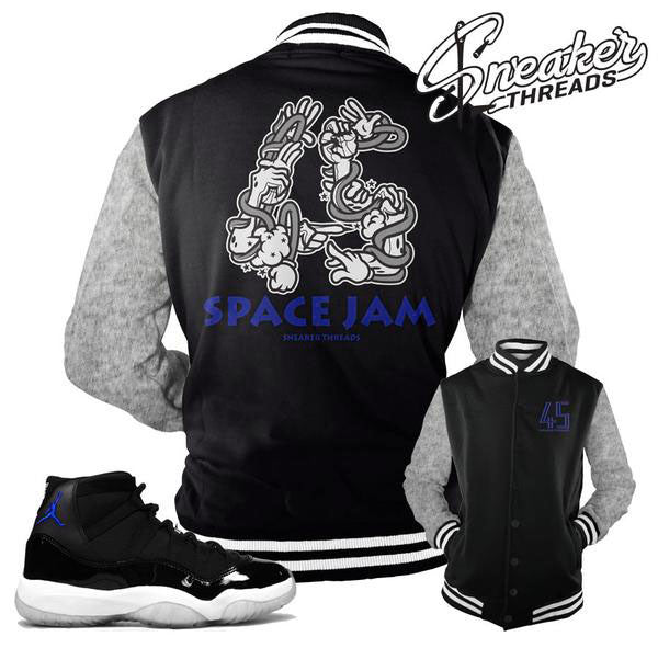 Jordan 11 space jam jackets match space jam 11 coats.