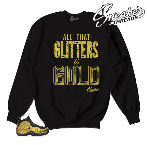 Sweaters match Foamposite metallic gold | Sneaker threads.
