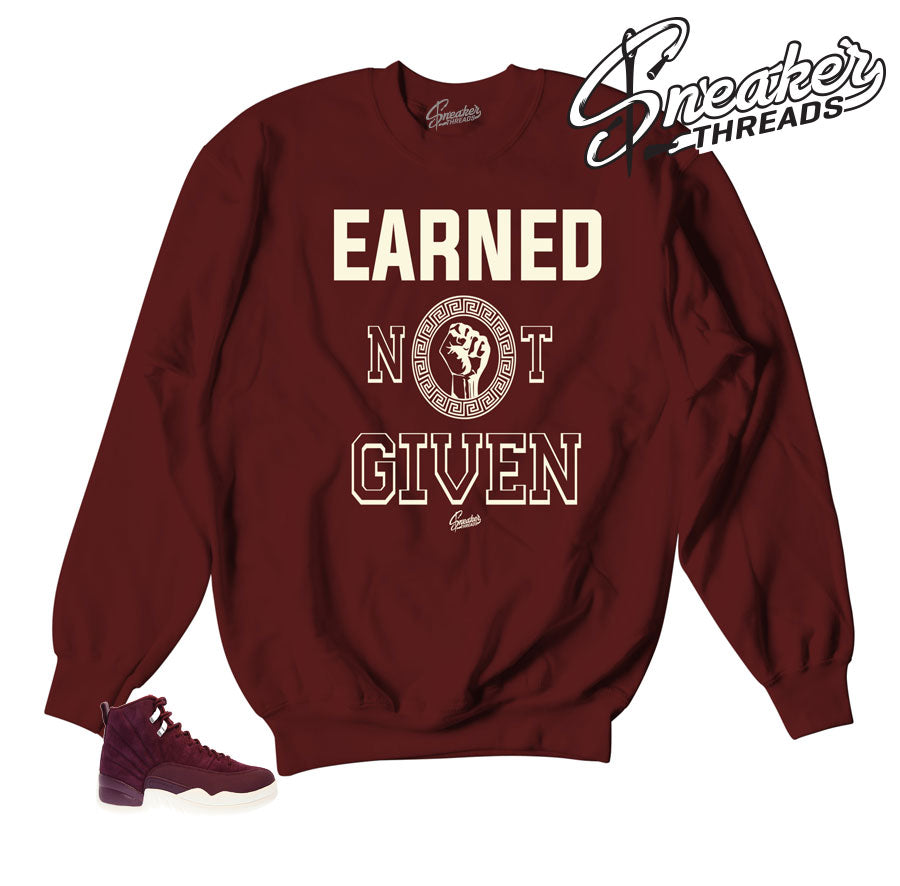 Jordan 12 bordeaux sweaters match | Official matching clothing.