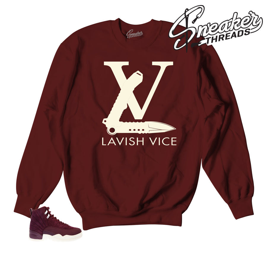 Sweatshirts match Jordan 12 bordeaux clothing and sweaters.