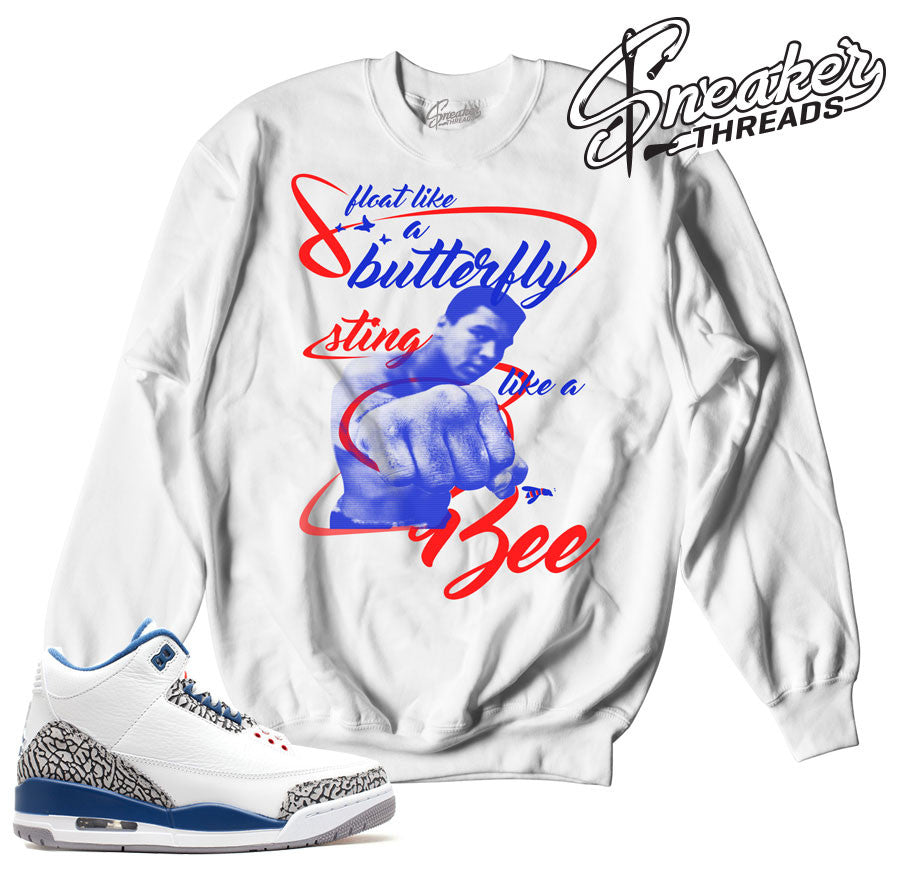 Sweaters match jordan 3 true blue OG sneaker crewnecks.