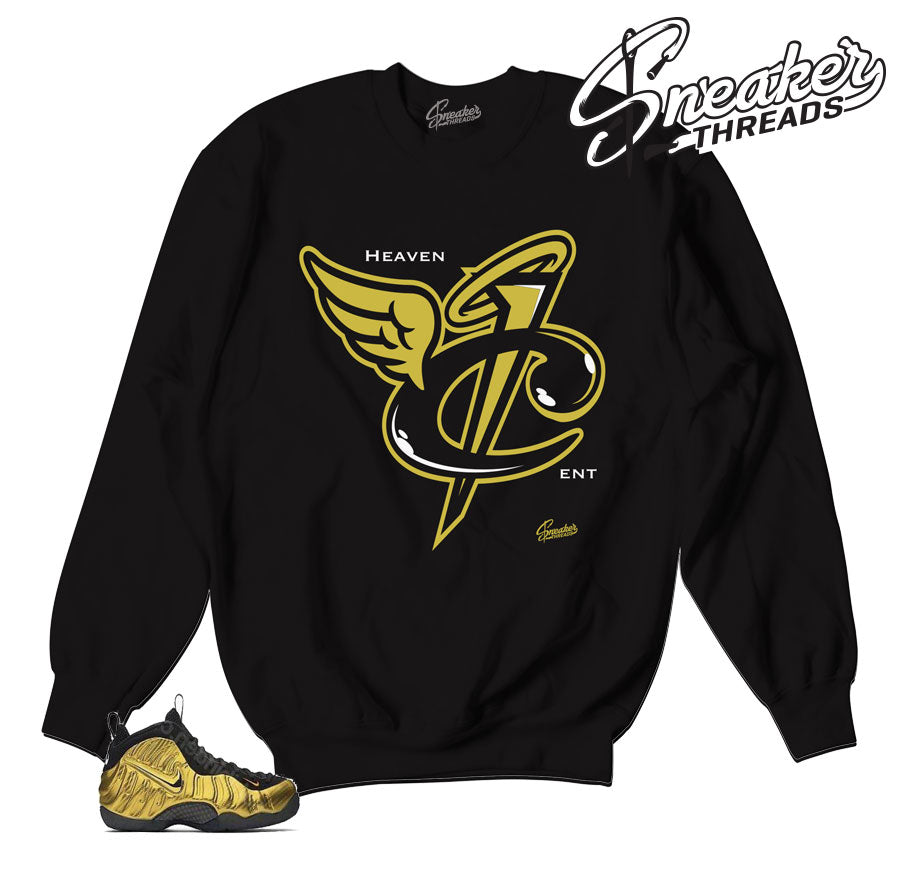 Foamposite metallic gold sweaters. BIG bear sneaker sweater.