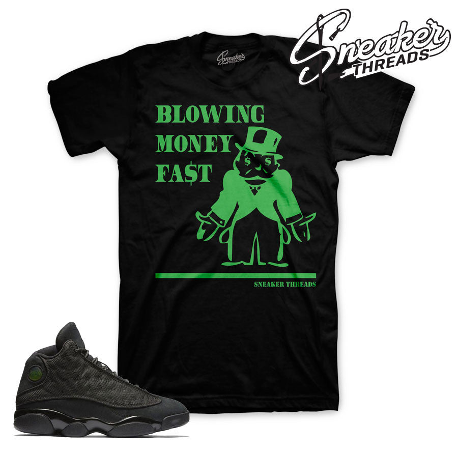 Jordan 13 black cat tees. New sneaker match black cat tees.