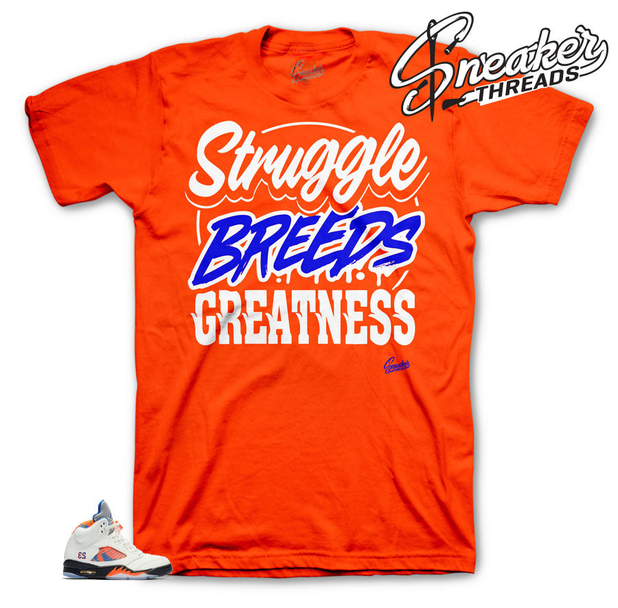 Jordan 5 Barcelona Struggle breeds shirt