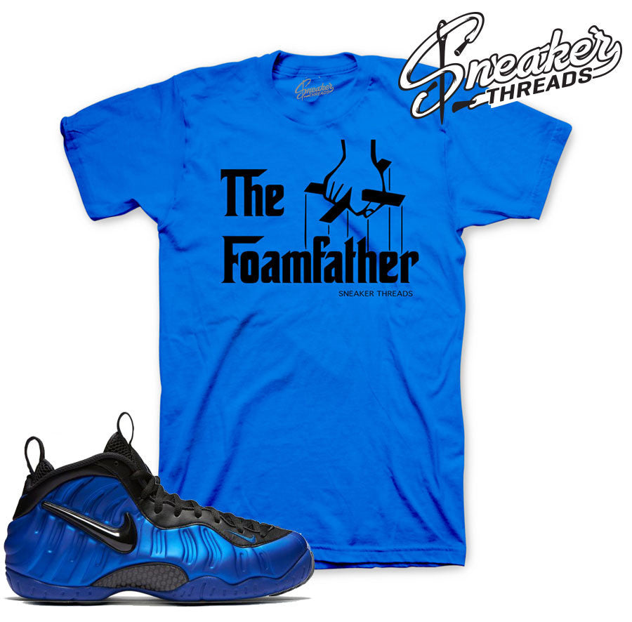 uk availability 23e44 353cc Foamposite Hyper Cobalt Foamfather Shirt