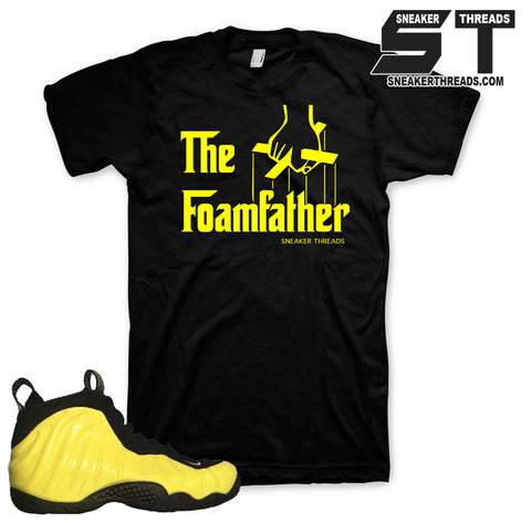 Shirts match foampoite optic yellow foam sneaker yellow tees.