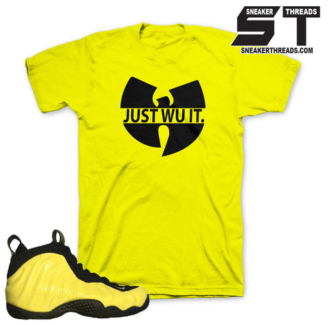 Foamposite Optic Yellow Wu It Shirt
