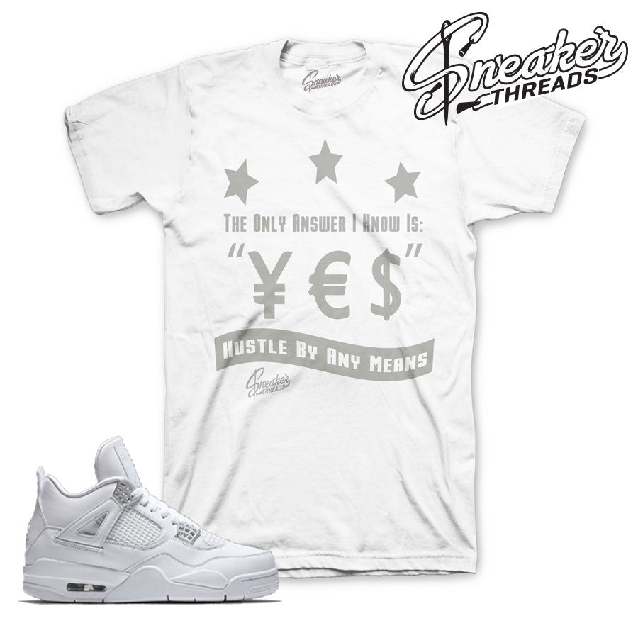 Match Jordan 4 pure money shirts retro 4 money sneaker tees.