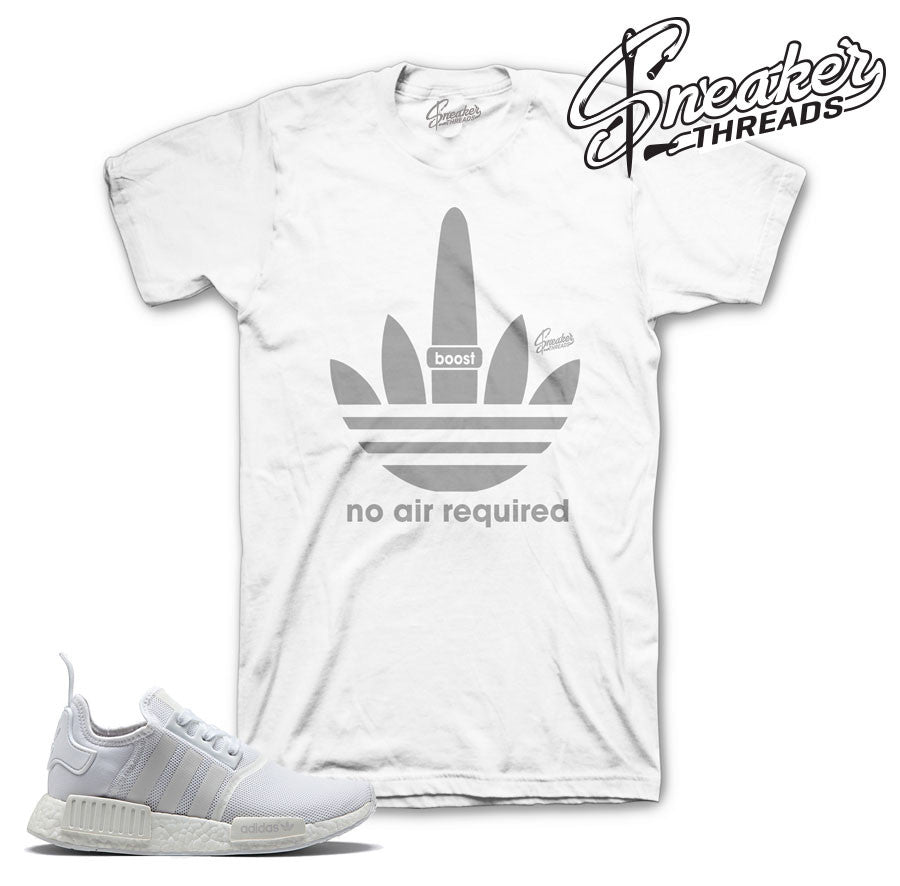 NMD R1 tee match crisp white black | Sneaker Match tees.