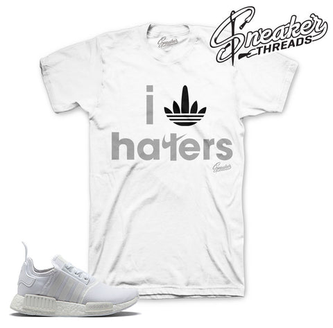 Adidas NMD r1 tee match footwear white sneakers. NEW 2017