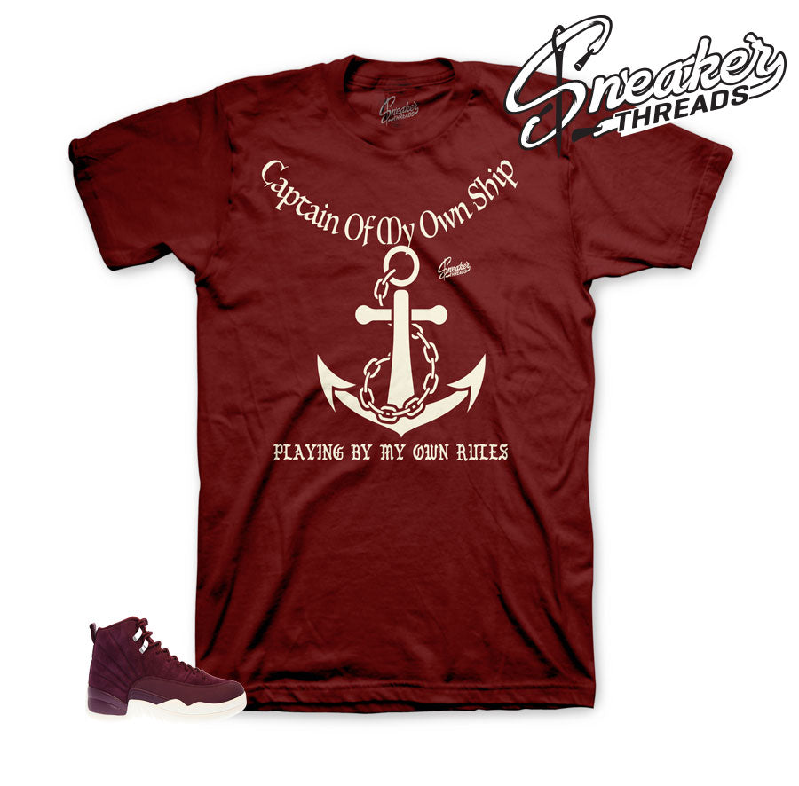 fbaebd29379 Bordeaux Jordan 12 shirts | Sneaker threads official clothing.