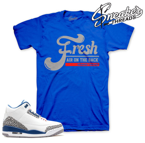 Retro 3 true blue t-shirts match retro 3 true blue shoes.