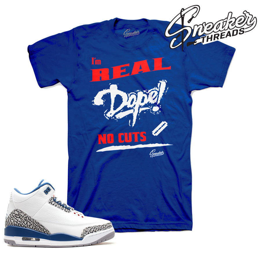 True blue retro 3 shirts match jordan 3 clothing.