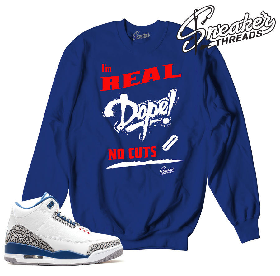 67c22c48d10855 True blue retro 3 sweaters match jordan 3 clothing.