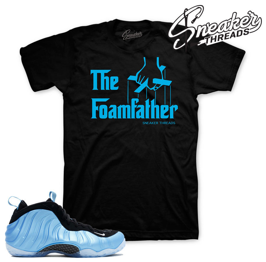 Shirts match foamposite university blue. Fresh new sneaker tees.