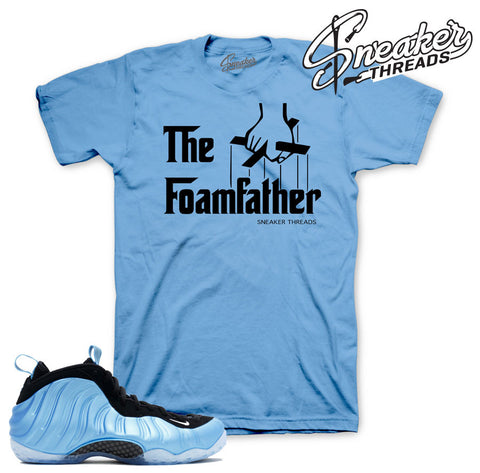 Shirts match foamposite university blue sneaker match foam university shirts.